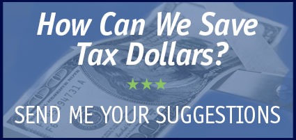 How can we save tax dollars? Send me your suggestions